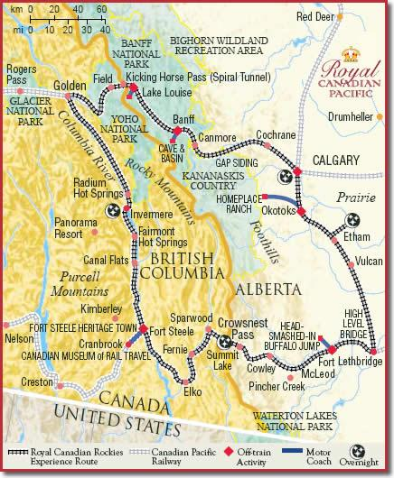 Royal Canadian Pacific Train Tours Information Booking