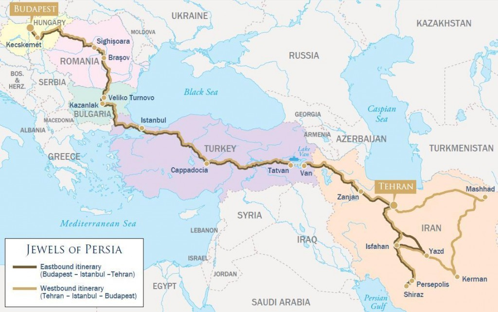Golden Eagle by Luxury Train Club - Jewels of Persia journey