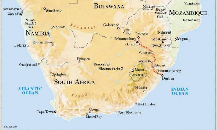 Map Of Africa Oceans.Rovos Pride Of Africa Luxury Train Club