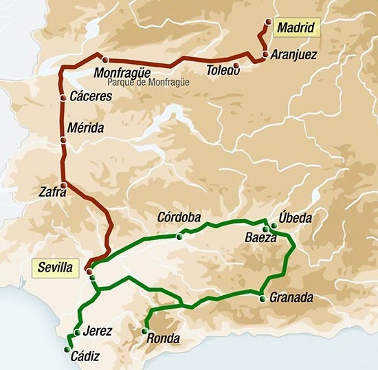 Map Of Spain Extremadura.Spanish Luxury Trains 2019 Luxury Train Club