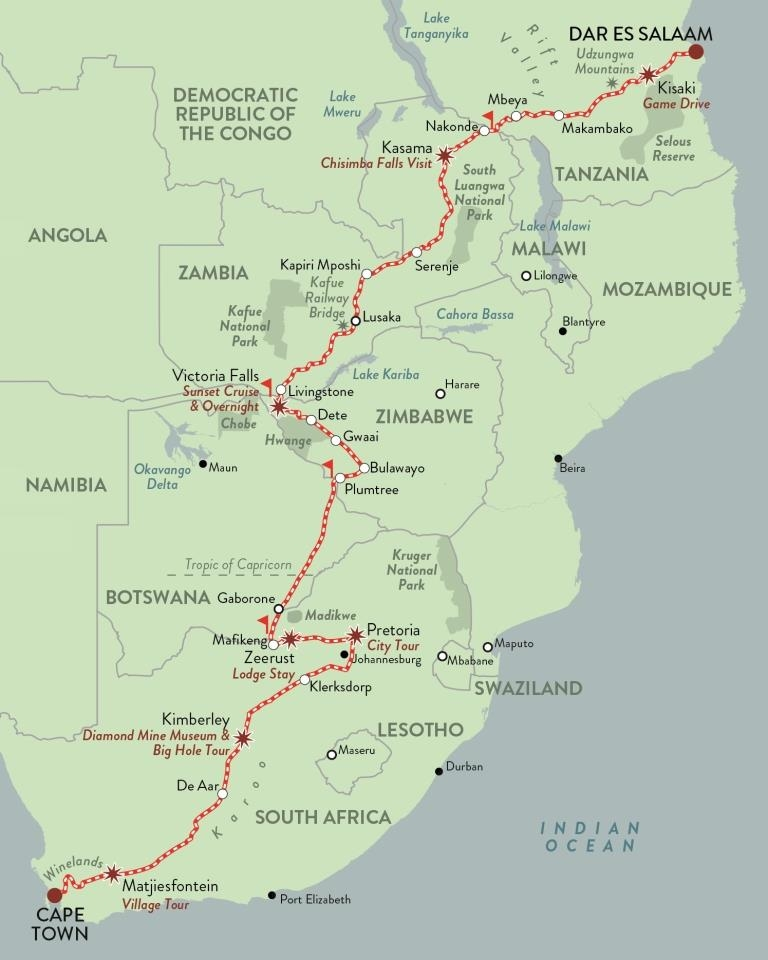 Rovos Pride of Africa Dar es Salaam Journey Luxury Train Club