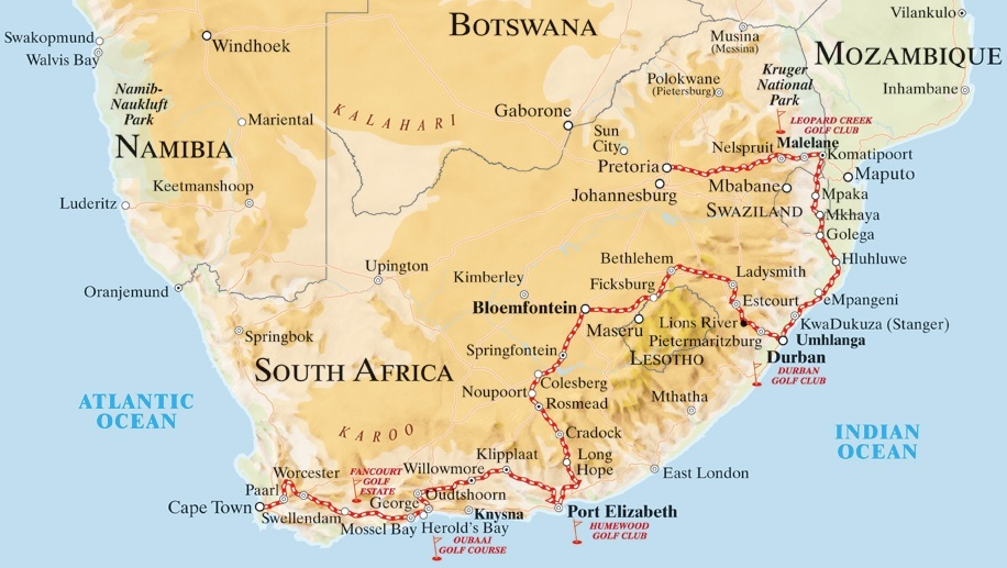Rovos pride of africa luxury train club - Cape town to port elizabeth itinerary ...